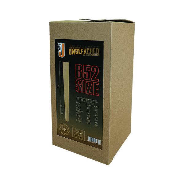 JWare B52 pre-rolled rolling paper unbleached